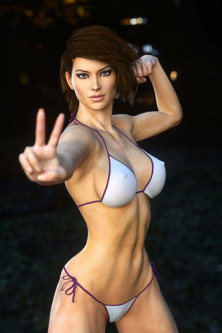 3d animated beautiful sexy girl