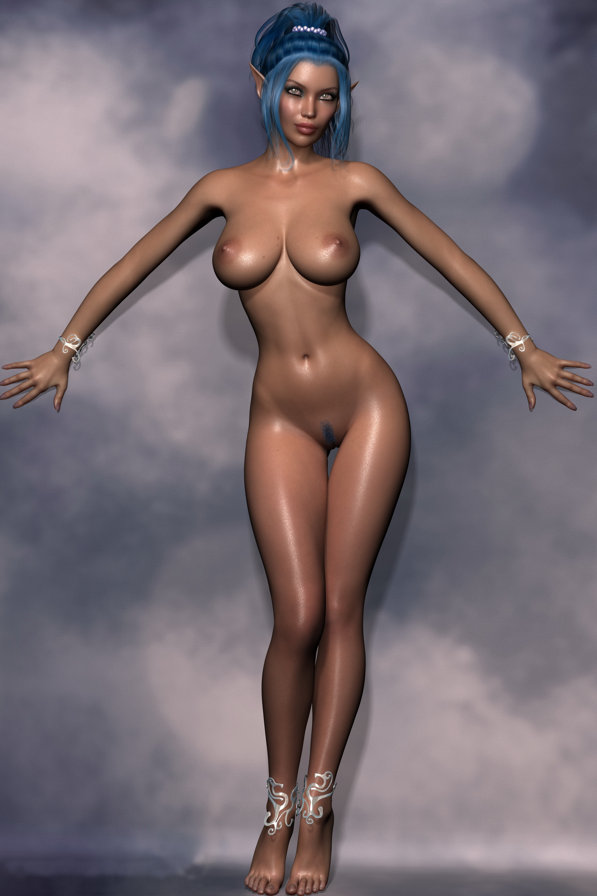 beautiful 3d cartoon girl