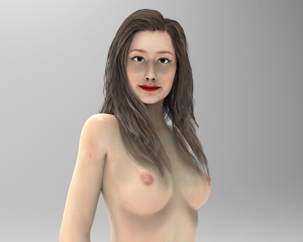 girl beautiful 3d model stl